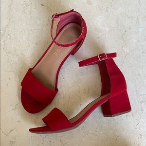 Rampage Mattie Block Heel Red